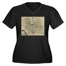 Persia Ancient Map 1747 Plus Size T-Shirt