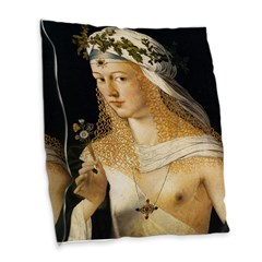 Lucrezia Borgia Burlap Throw Pillow
