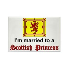 Married To A Scottish Princess Rectangle Magnet