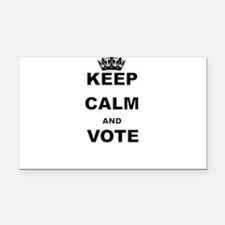 KEEP CALM AND VOTE Rectangle Car Magnet