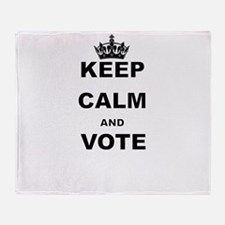 KEEP CALM AND VOTE Throw Blanket