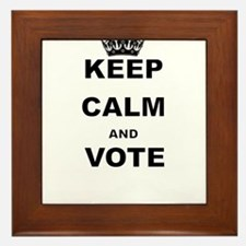 KEEP CALM AND VOTE Framed Tile