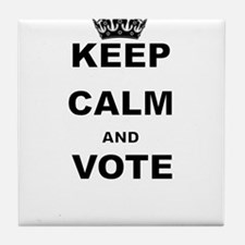 KEEP CALM AND VOTE Tile Coaster
