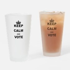 KEEP CALM AND VOTE Drinking Glass