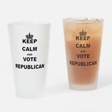 KEEP CALM AND VOTE REPUBLICAN Drinking Glass
