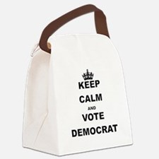 KEEP CALM AND VOTE DEMOCRAT Canvas Lunch Bag