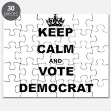 KEEP CALM AND VOTE DEMOCRAT Puzzle