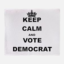 KEEP CALM AND VOTE DEMOCRAT Throw Blanket