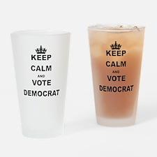 KEEP CALM AND VOTE DEMOCRAT Drinking Glass