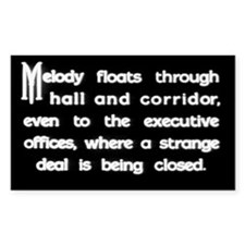 """""""Strange Deal"""" Title Rectangle Decal"""