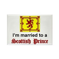 Married To A Scottish Prince Rectangle Magnet