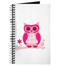 Cute Pink Owl Journal