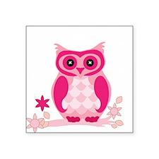 Cute Pink Owl Sticker