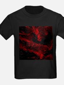 impressive moments full of color-red black T-Shirt