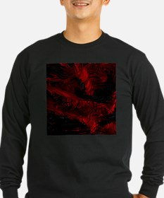 impressive moments full of color-red black T