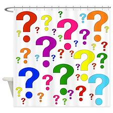 Rainbow Question Marks Shower Curtain