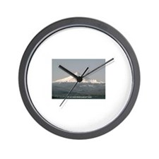 Cute Montana mountains Wall Clock