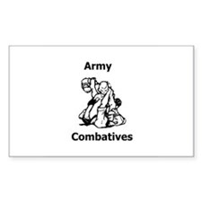 Army Combatives Gear Rectangle Decal