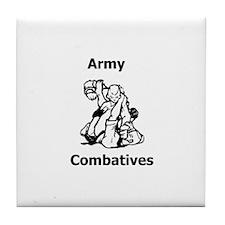 Army Combatives Gear Tile Coaster