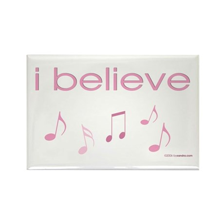 I believe in Music Rectangle Magnet