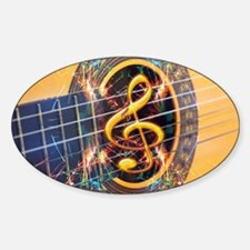 Acoustic Guitar Explosion of Music Decal