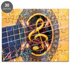 Acoustic Guitar Explosion of Music Puzzle