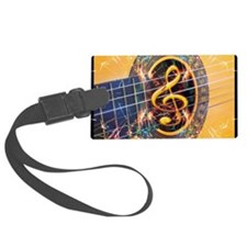 Acoustic Guitar Explosion of Mus Luggage Tag