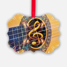 Acoustic Guitar Explosion of Musi Ornament