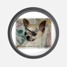 Chihuahua Head Study Wall Clock
