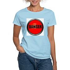 DANGER Women's Pink T-Shirt