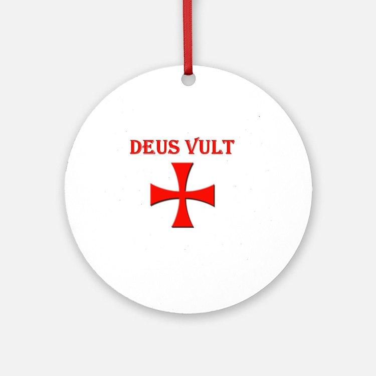Cute Deus Round Ornament