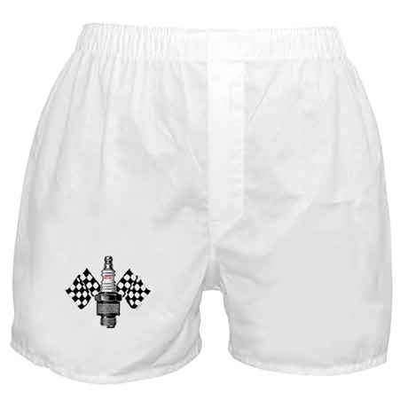 SPARK PLUG and FLAGS Boxer Shorts