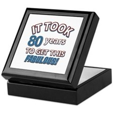 80 never looked so fabulous Keepsake Box