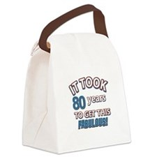 80 never looked so fabulous Canvas Lunch Bag