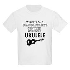 Ukulele Design better than Diamonds T-Shirt