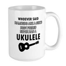 Ukulele Design better than Diamonds Mug