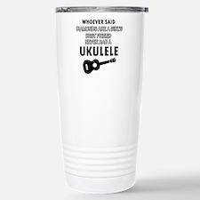 Ukulele Design better than Diamonds Travel Mug