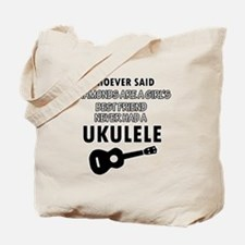 Ukulele Design better than Diamonds Tote Bag
