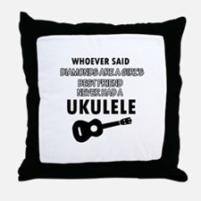 Ukulele Design better than Diamonds Throw Pillow