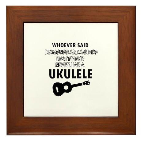 Ukulele Design better than Diamonds Framed Tile