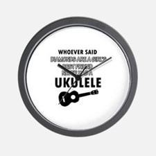 Ukulele Design better than Diamonds Wall Clock