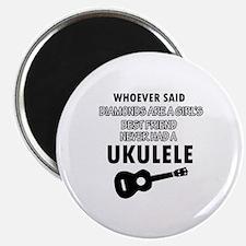 Ukulele Design better than Diamonds Magnet