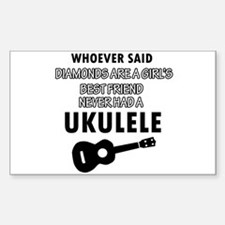 Ukulele Design better than Diamonds Decal