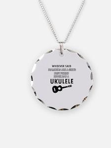 Ukulele Design better than Diamonds Necklace