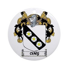 Carey Coat of Arms Ornament (Round)
