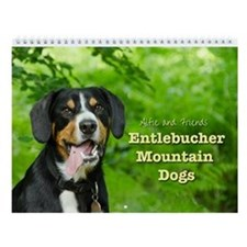 Entlebucher Mountain Dogs Wall Calendar