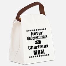 Never Underestimate chartreux Des Canvas Lunch Bag