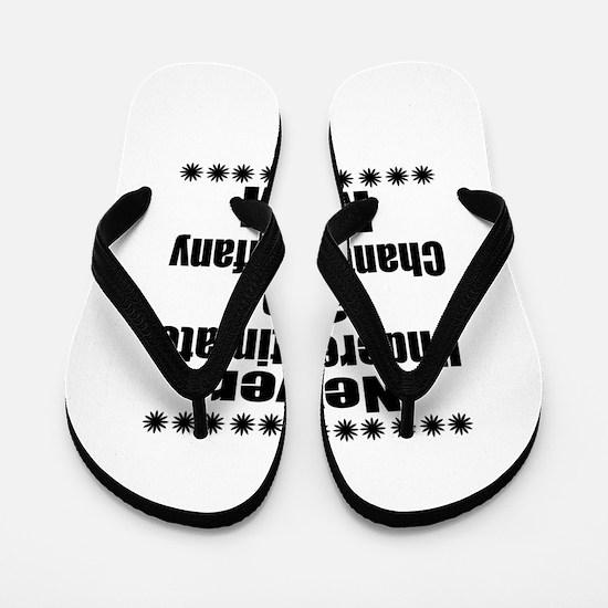 Never Underestimate chantilly tiffany D Flip Flops