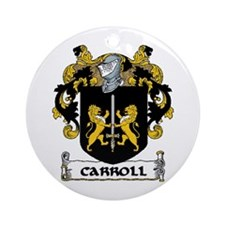 Carroll Coat of Arms Ornament (Round)