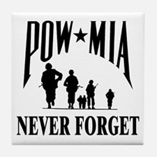 POW-NEVER FORGET-2- Tile Coaster